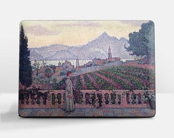 "Laptop skin (Custom size). Paul Signac, ""The Terrace, Saint Tropez"". Laptop cover, HP, Lenovo, Dell, Sony, Asus, Samsung etc."