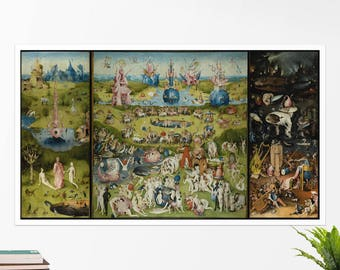 "Hieronymus Bosch ""The Garden of Earthly Delights"". Art poster, art print, rolled canvas, art canvas, wall art, wall decor"