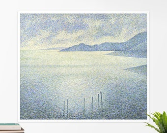 "Théo van Rysselberghe, ""Coastal Scene"". Art poster, art print, rolled canvas, art canvas, wall art, wall decor"