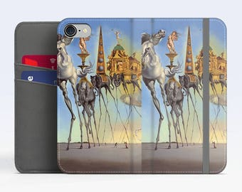 "Salvador Dali, ""The Temptation of St.Anthony"". Samsung S8 Wallet case. Galaxy S7 wallet case. Samsung Galaxy S6 wallet case. iPhone Wallet"