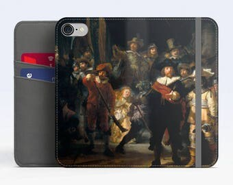 "Rembrandt, ""The Night Watch"". iPhone 8 Wallet case, iPhone 7 Wallet case  iPhone 6 Plus Wallet case. Samsung Wallet cases."