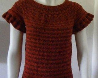 Handknitted jumper Gr. 38-40