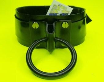 Matte Black Leather Industrial Choker