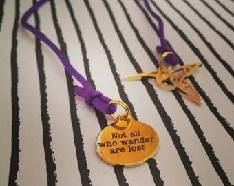 Not all who wander are lost Bookmark with Hummingbird
