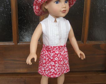 """blouse, skirt and Cape for 18 """"dolls"""