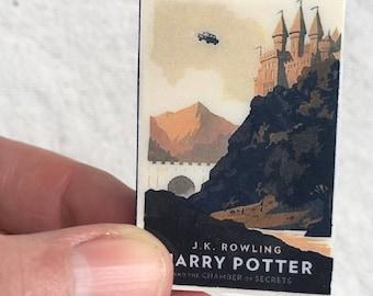 Book Brooch, Miniature Book Brooch, Harry Potter, Chamber of Secrets