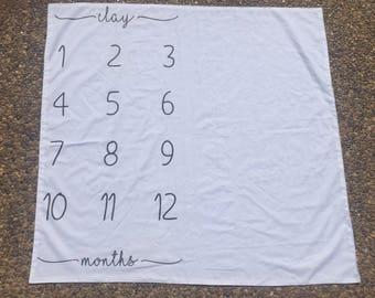 Month to Month Infant Photo Prop Blanket, Baby Shower Gift, Baby Gift, Photo Prop, Handmade Baby, Baby Blanket, Custom Baby