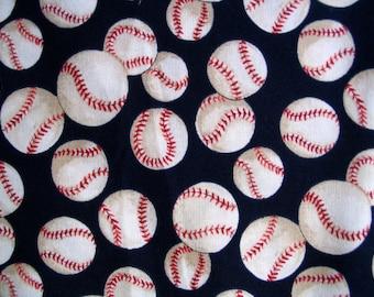 Alexander Henry Baseball Fabric - Blue Baseball Fabric - Quilting Cotton - Baseball Fabric