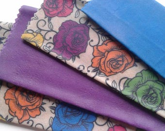 Beeswax Cottage Wraps 'Bold as Roses' - Eco-friendly alternative to plastic cling wrap