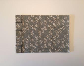 Handmade japanese binding floral notepad