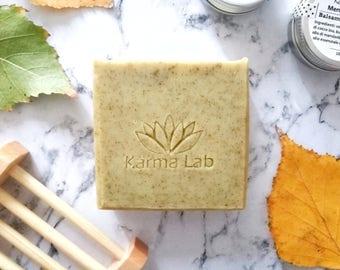 Seaweed Handmade Soap, Natural Handmade Soap, Artisan Soap, Soap for Eczema, Exfoliating Soap, Acne Soap Bar, Herbal Soap, Vegan Soap Bar