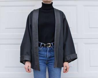 Handmade Black Wing Coat