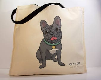 French Bulldog shopping bag - Tote bag for Dog lovers