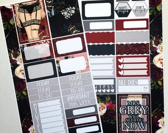 Fifty Shades * NON-FOILED PERSONAL Sized Planner Sticker