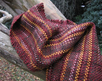 Scarf handwoven loomwoven wool