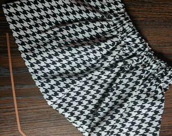 Black and White Houndstooth Skirt