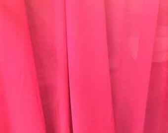 Fuchsia Pink Chiffon Fabric, Fuchsia Sheer Material Sold By the Yard