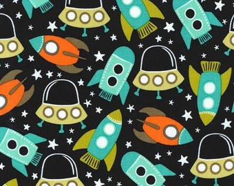 Michael Miller Space Station - Retro/Cotton/Fabric/Sewing/Quilting