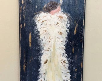 Original Gold Leaf Angel Painting
