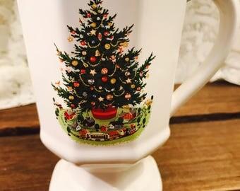 Pedestal Mug in Christmas Heritage by Pfaltzgraff - Christmas Tree