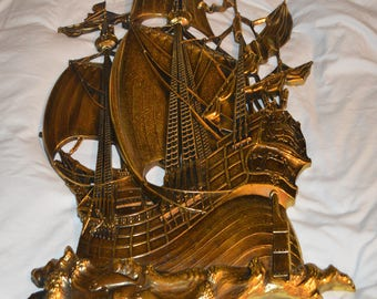 vintage 3D Pirate Ship Wall art