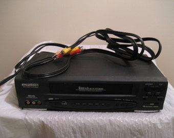 sylvania 4-head hi-fi stereo vhs/vcr model # ssv6001