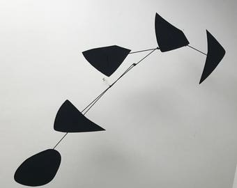 Large, 58 inch long, Kinetic Mobile Sculpture Inspired by Alexander Calder