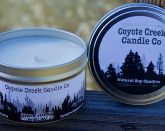 Honeydew Melon 8oz. Natural Soy Candle Tin