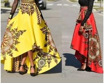 Dashiki maxi skirt, ankara maxi skirt, ankara skirt, kente skirt