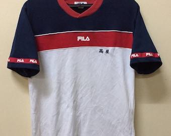 Fila T shirt V-neck Nike Adidas Puma Asics Lotto Admiral