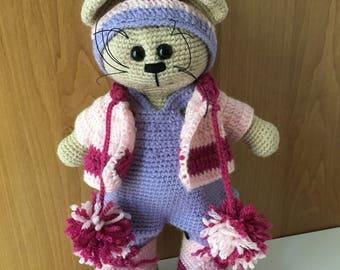 Crochet doll, amigurumi, plushie, cat