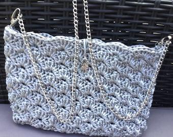 Chic bohemian crochet clutch bag