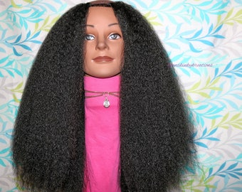 "READY TO SHIP //Synthetic crochet u-part wig ""All Naturale Blowout"""