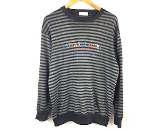 KURASHI MORE Collection International Long Sleeve Medium Size Sweatshirt Big Spell Out Logo