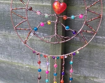 Beautiful tree sun catcher , one of a kind totally unique