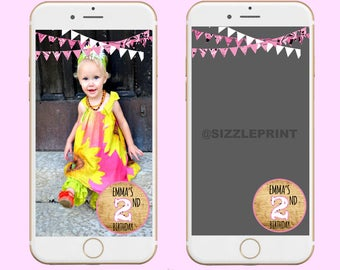 WESTERN PINK GEOFILTER  Plus Family & Friends Message | Custom Personalized Snapchat Geofilter | Girl  Birthday Party | Western Pink Bandana