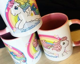 My Little Pony Mug Custom 1980s Vintage Ponies with Magnet