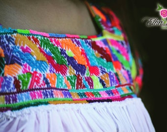Mexican hand-embroidered blouse / boho top