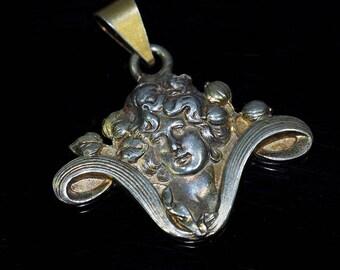 Art Nouveau Silver Pendant