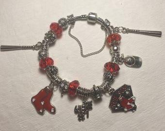 Boston Red Sox Baseball European Style Bracelet Beads Charms