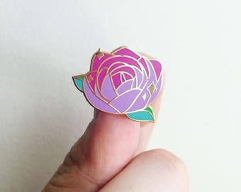 Purple Rose Enamel Pin