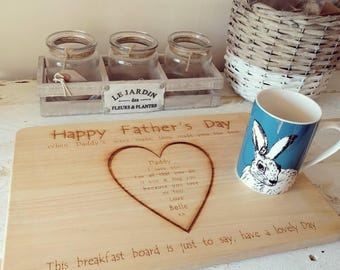 Personalised Father's Day Breakfast Board
