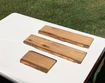 Chestnut Floating Shelf, Wood Shelf, American Chestnut, Antique Wood