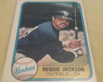 Reggie Jackson Baseball Card