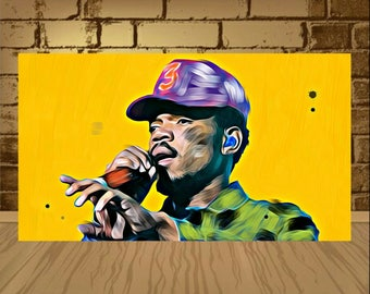 chance the rapper poster,chance the rapper print,chance the rapper art,rapper poster,rapper print,rapper art,painting print,rap art,chance