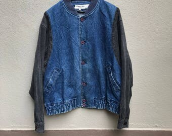 Vintage 90s YVES SAINT LAURENT italy denim jeans jacket
