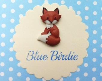 Fox brooch fox jewelry fox badge sitting fox brooch fox jewellery cute fox jewelry fox gifts
