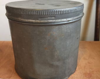 Antique metal canister