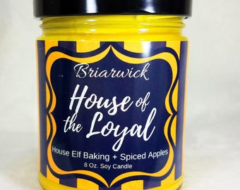 House of the Loyal- 8 oz. Candle- Wizard Inspired-- Soy Vegan Candle