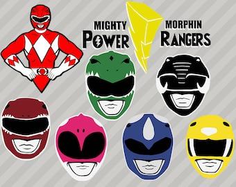Power Rangers Svg, Clipart, png, eps files, Power rangers Cut files for cricut, Super hero Svg, Power rangers decal design for tranfer shirt